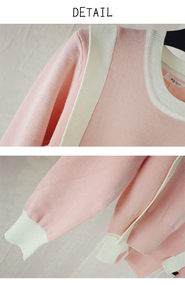 【メール便OK】クルーネック ニット[MBOK]