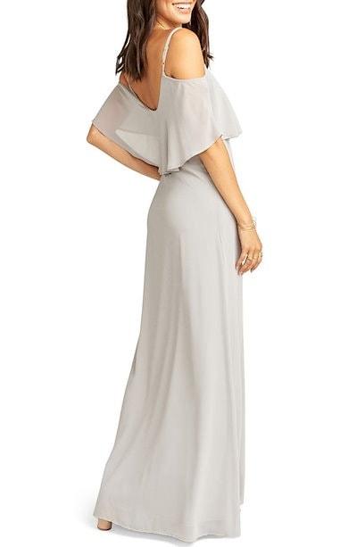 ウミーユアムーム レディース ワンピース トップス Show Me Your Mumu Caitlin Cold Shoulder Chiffon Gown