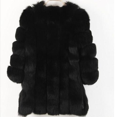 ラグジュアリー女性暖かい冬フェイクファーフード付きパーカーコートオーバーコートロングジャケットアウトウェア