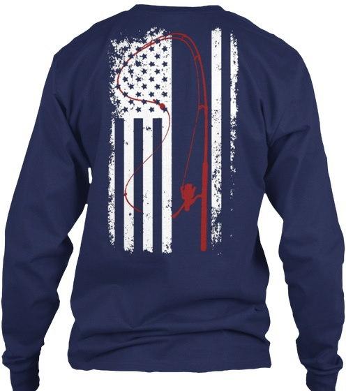 限定版 - 釣りハンティングフラッグギルタン6.1ozロングスリーブTシャツ