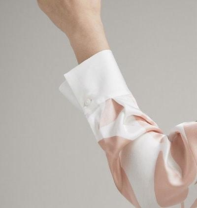 花柄 ラップブラウス シャツ ブラウス ウエスト切り替え レディース トップス ゆったり 体型カバー 細見え Vネック オフィス エレガント 上品 お呼ばれ