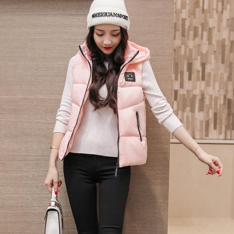ベスト レディースファッション ジャケット 秋冬新作  チョッキ大きいサイズ ベスト ベスト 韓国 ファッション シンプル 純色  羽毛 中綿入りコート 防寒 アウター 前開き ルームウエアでもアウタ