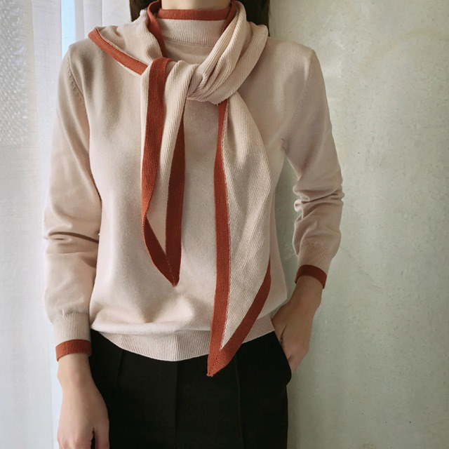 Bolero color knit set Korean fashion style