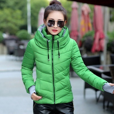 2017ウィンタージャケット女性パーカーシックウィンターアウターウエアプラスサイズダウンコートショートスリムデザインコットン-p