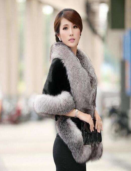 s1お襟  人工フォックス  暖かい  レディース 上質 豪華 毛皮コート マント  フェイクファー ストール