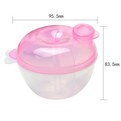 Portable Baby Infant 3-Layer Milk Powder Feeding Formula Dispenser Container Storage Box