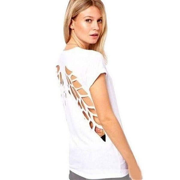 レディースVネックトップルーズバギーカジュアルシフォンTシャツブラウスプラスサイズ