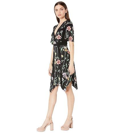 ビーシービージーマックスアズリア レディース ワンピース トップス Floral V-Neck Printed Matte Jersey Dress