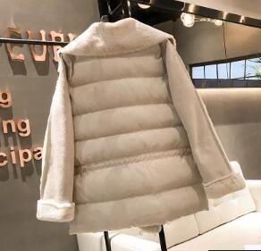 [55555SHOP]ファーコートレディース ボアフリースフェイクムートンコート厚手 もこもこ 韓国ファッション 秋