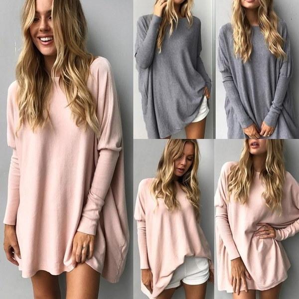 秋の女性ロングスリーブルーズTシャツプルオーバーレディースセーターシャツトップスブラウス