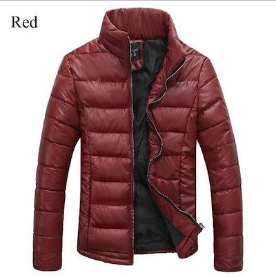 男の冬のカジュアルスリムフィット暖かいコート