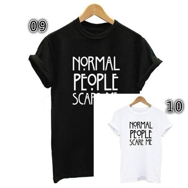 より多くの問題はボグよりプリント綿レディーブラックホワイト女性トップスTシャツ(アジアンサイズ)