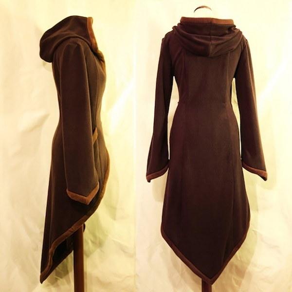 女性の冬のワープコートソリッドカラーフリースの秋のコートフードアウターと