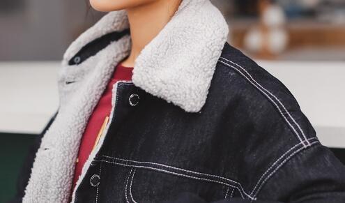 冬防寒ゆる裏起毛デニムトレンチコート デニムコート ロングコート