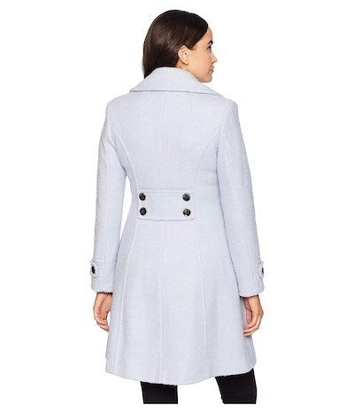 イヴァンカ・トランプ レディース コート アウター Double Breasted Button Boucle Wool Coat