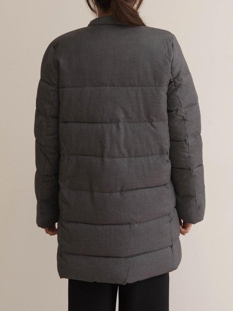 【送料無料】デイリーアイテムとしてはもちろん、オフィスやビジネススタイルにも活用できるすぐれもの★ダウンコート ダウンジャケット 冬 秋 オーバーサイズ 大きいサイズ シンプル 中綿 ダウン ノーカラ