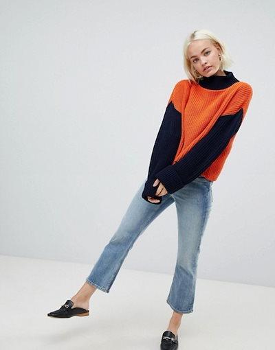 グラマラス レディース ニット・セーター アウター Glamorous relaxed sweater in color block