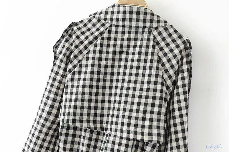 格子縞トレンチコート レディース シンプルでカッコイイ人気のコート トレンチコート きれいめ 品を演出 シンプル 大人 上品
