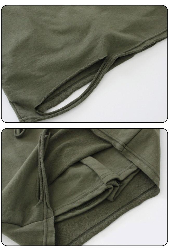 ★送料無料★サイドラインカットソー ダメージ加工 スカートパンツセット レディース 韓国ファッション ワンピース Tシャツ バッグ リュック パーカー