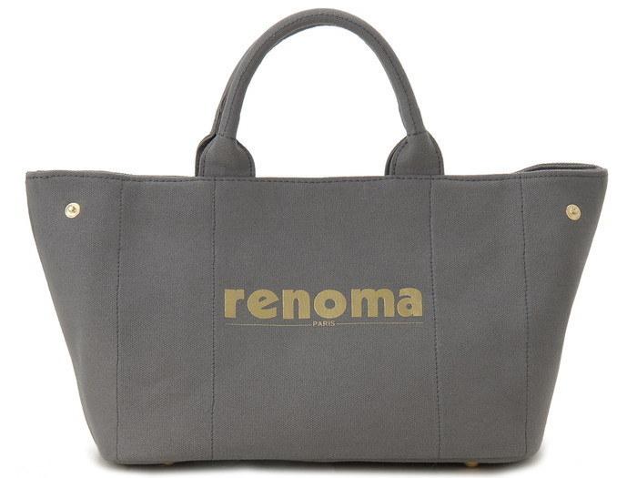 renoma レノマ ハンドバッグ 1505001-03513 キャンバス 2WAYバッグ グレー【送料無料】