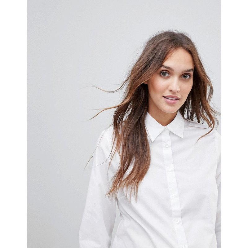 エイソス レディース トップス【ASOS Maternity Shirt With 3/4 Sleeve】White