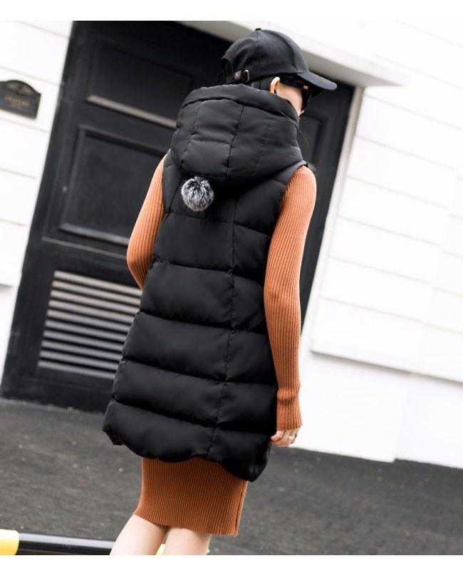 ダウンコート 中綿 ダウンベスト ロング レディース 韓国風 オシャレ 袖なし しっかりと厚手 ふわふわ カーキ ブラック ノースリック 秋冬の頼りになる デザイン性と実用性を兼ね備え カジュアル 無
