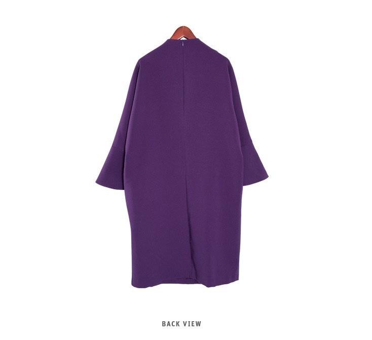 『韓国製』SELLISHOP  Lauren ワンピース「大きいサイズ 大人 韓国 ファッション・結婚式・フォマール 黒 フレア 30代 40代 50代 スレンダー・Aライン,シャツ・上品・ロング ミ