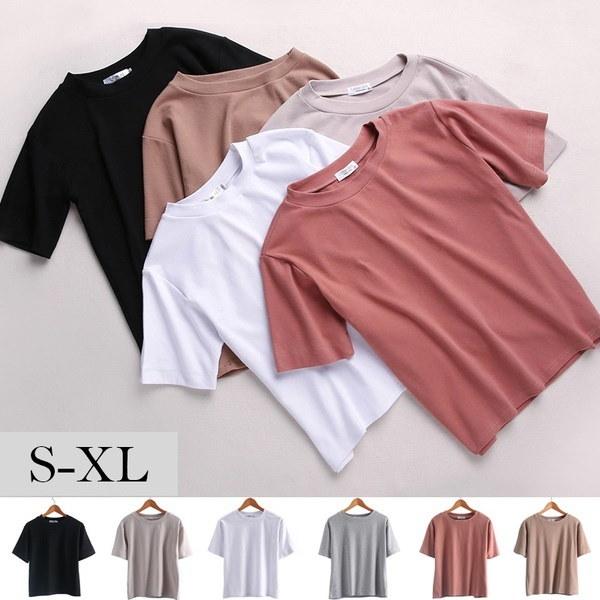 夏の女性のファッションスポーツウェアプレーンな女性のTシャツ