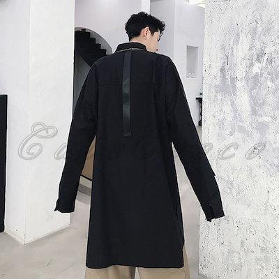 2018秋新作 ロングシャツ 長袖 メンズ ビックサイズ シンプル カジュアルシャツ かっこいい 大きいサイズ ゆったり トップス 春夏秋 おしゃれ