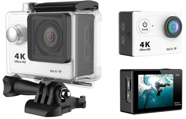 オリジナルH9ウルトラHD 4KビデオWifiスポーツDV 170度広角スポーツカメラ2インチスクリーン1080p