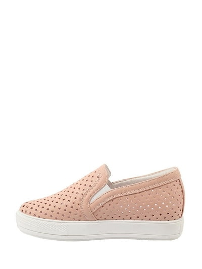 PU Hollow Out Ventilate Slip On Sneakers