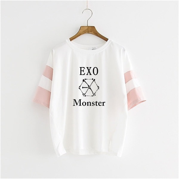 kpop EXOスリーシリーズモンスター半袖Tシャツワンピースブラウスk-pop exo