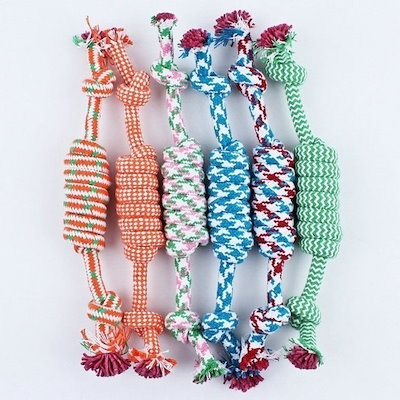 Newcomdigi 1pcs Color Random Dog Pet Puppy Chew Cotton 8 Rope Ball Braided Knot Toys Products