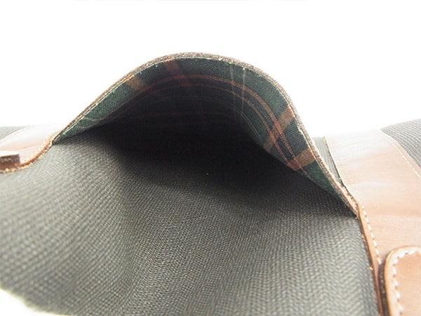 ダンヒル Dunhill ボストンバッグ  メンズ可   ブラウン×ブラック PVC×レザー 人気 良品 【中古】 T608 .