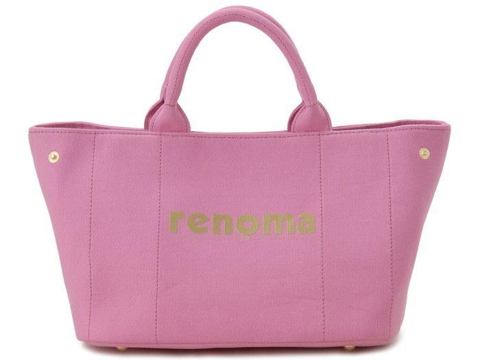 renoma レノマ ハンドバッグ 1505001-14511 キャンバス 2WAYバッグ ピンク【送料無料】