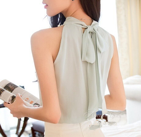 韓国のファッションビーズシフォンブラウスレディースシャツ