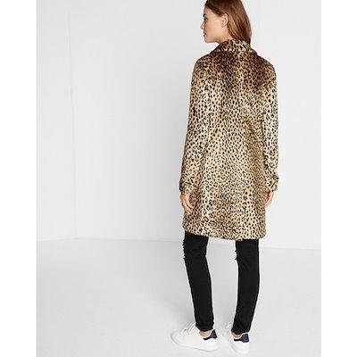 Fur Coat In Winter Dress Coat Leopard Long Fur Coat
