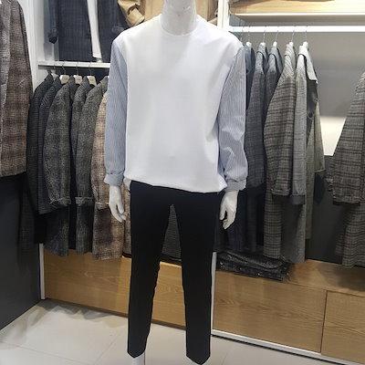 [SAY公式ストア][us n them]男)小売背板ストライプパッチTシャツ(TBTC201)