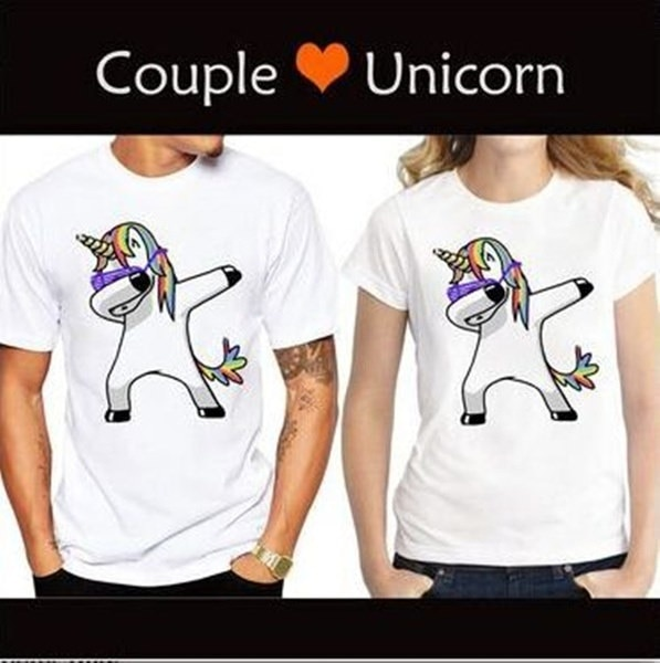 ユニコーンTシャツ2017カップルファッショントップレディースTシャツカジュアル半袖Tシャツ