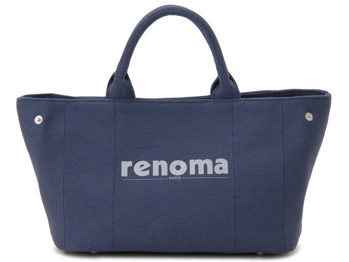 renoma レノマ ハンドバッグ 1505001-21302 キャンバス 2WAYバッグ ネイビー【送料無料】