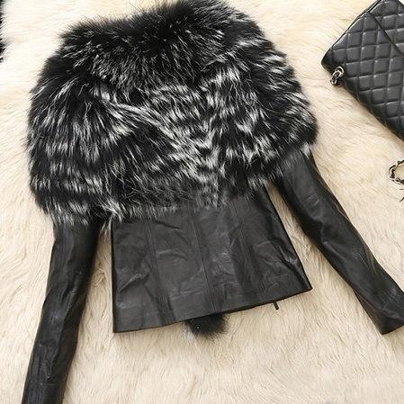 ファッションレディースレディースウィンターフェイクレザーファーラグジュアリージャケットウォームコートアウトドアパーカー(プラスサイズS-5XL)