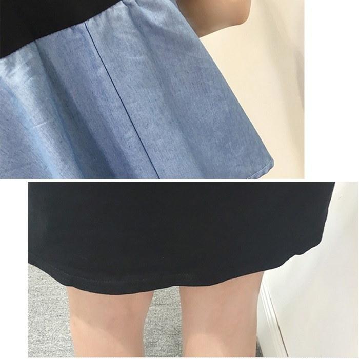 [新作★NewItem]2色5サイズ!デニムキャミソールレイヤード風Tシャツワンピース/レディース【RCP】【smtb-m】