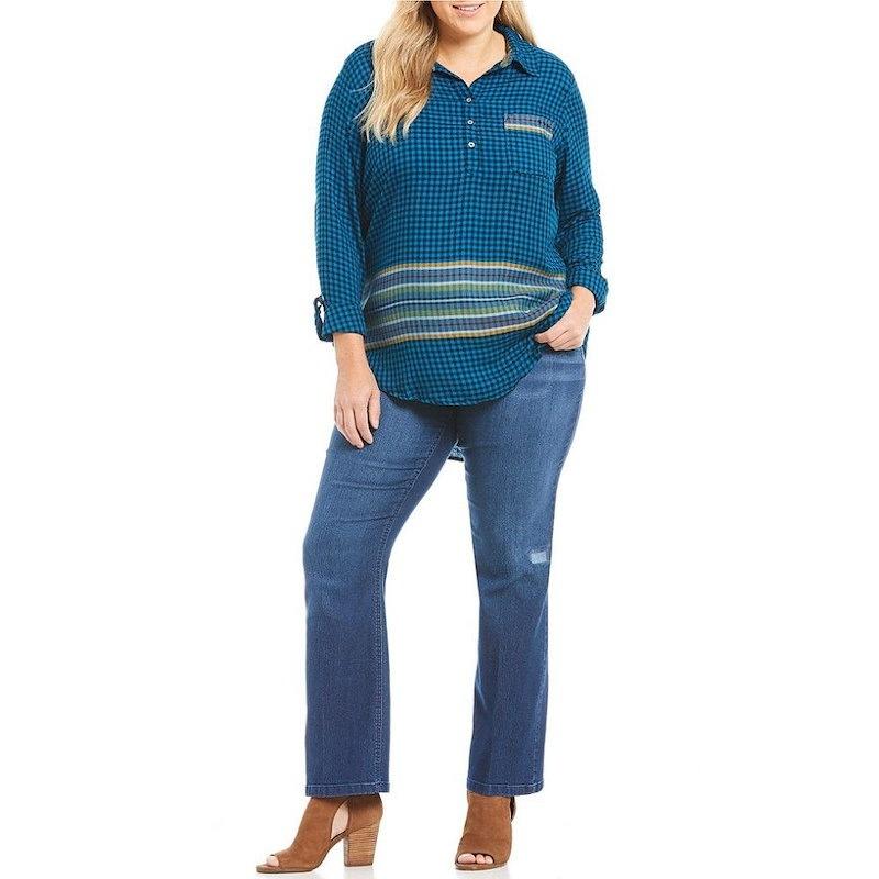 ウエストバウンド レディース トップス ブラウス・シャツ【Westbound Plus One Pocket Popover Shirt】Cool Stripe Check