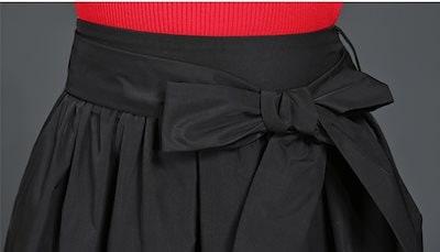 ウエストリボンスカート 上品 キレイ 通勤 オフィス ひざ丈 Aライン お呼ばれ 無地 旅行 デート シンプル お出かけ 大人可愛い 大きいサイズ