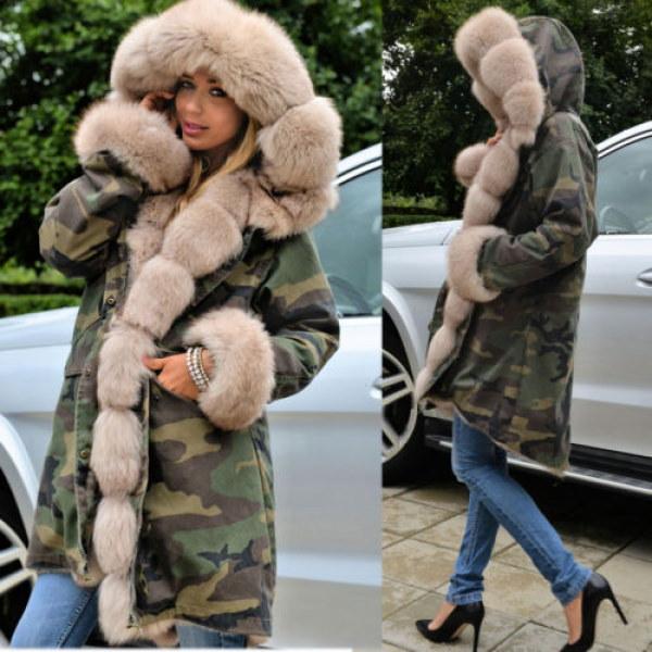 Real Saga Fox Fur Real Fur LinerHoodie Camouflage Military Coat 迷彩リアルサガフォックスファーフードライナー付ミリタリーモッズコート