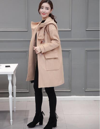 [55555SHOP]女性2017新韓国ファッション中に長金春の秋の風衣のジャケット