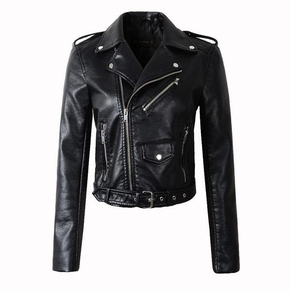 2017新しいファッション女性のワインレッドフェイクレザージャケットレディーボンバーオートバイクールアウターコート