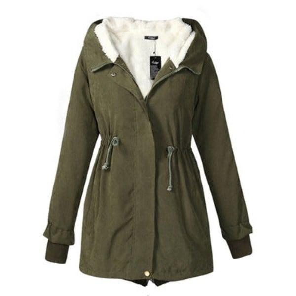 BS_Women Thickenフリースフード付きパーカーレディースウィンターコートジャケットS-5XL