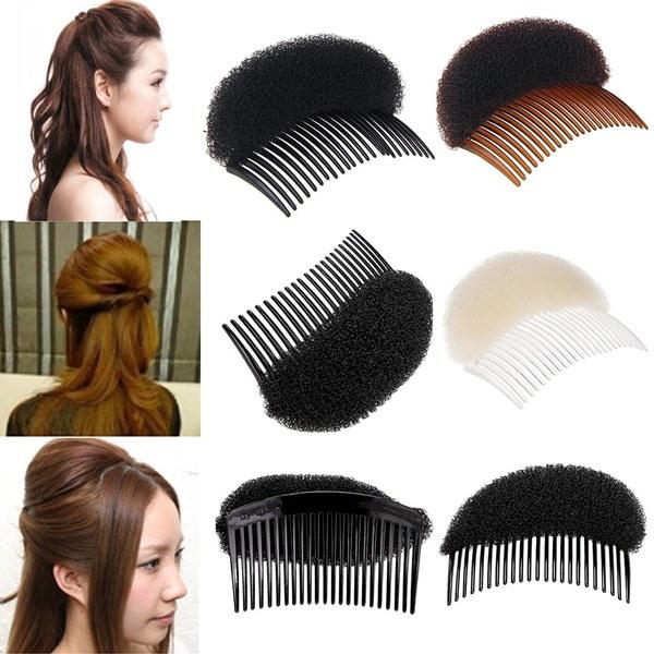 ブランドの新しい女性ファッションふわふわスポンジパッドヘアスタイリングクリップスティックバンメーカーヘアドライヤーヘアアクセサリー