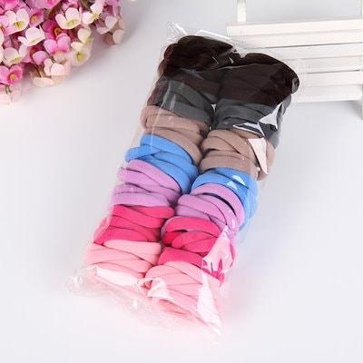 100pcs/lot Fashion Women Girl Candy Fluorescence Colored Hair Holders Rubber Bands Hair Elastics Hai